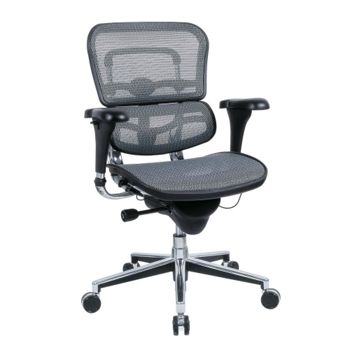 Quantity 1:  Mid Back Mesh Chair with Chrome frame- 56508 and more Lifetime Guarantee