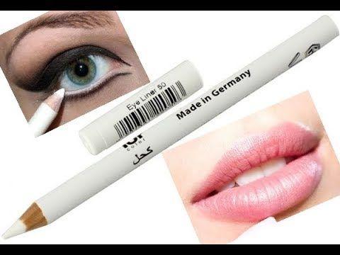 استعملى الكحل الأبيض لعيون أكثر إتساعا لشفاة أكبر Youtube Make Up Lipstick Maquillaje