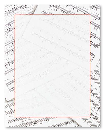 Sheet Music Stationery Letterhead