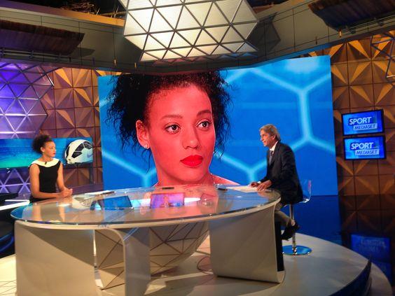 Valentina Diouf  anchorwoman a Sport Mediaset
