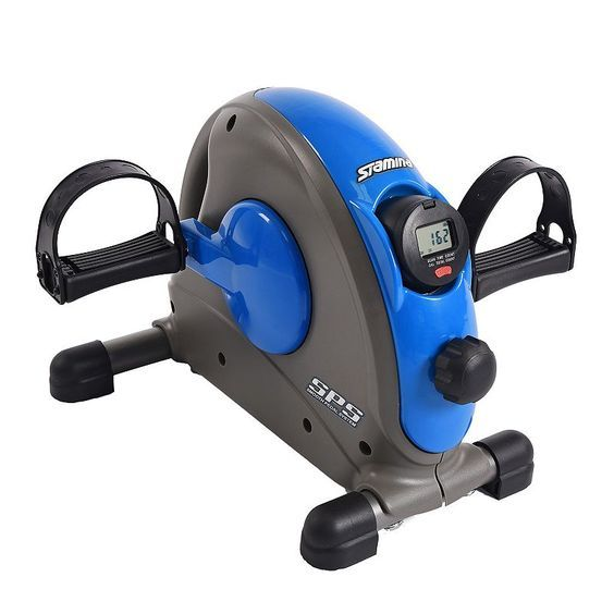 Stamina Mini Exercise Bike With Smooth Pedal System Biking Workout Mini Exercise Bike No Equipment Workout