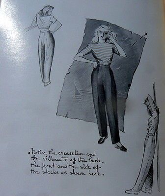 RARE VTG 1940s SEWING BOOK MODERN TAILORING FOR WOMEN 1947