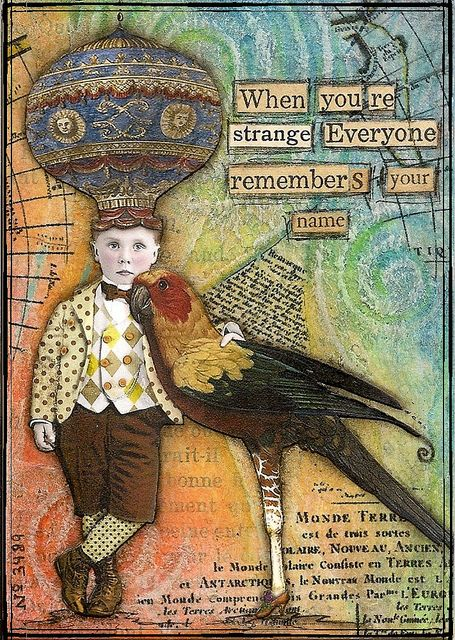 When You're Strange atc I did years ago  altered boy by Land Of Nod Studios: