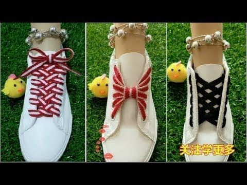 Diy Beautiful Unique Shoelace Guide Video Diy Fashion