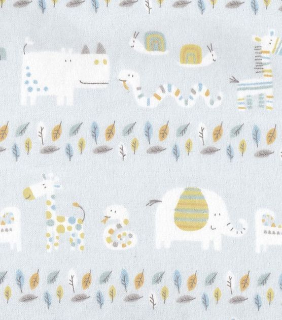 Snuggle Flannel Fabric Jungle Line