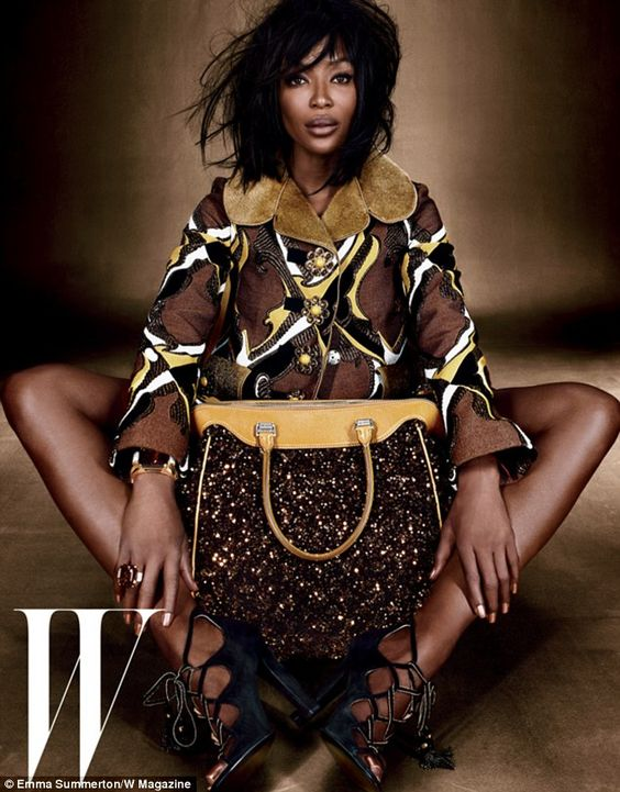 Naomi Campbell. Read more http://allafricafashion.com/naomi-campbell-dazzles-in-prints-for-w-magazine-july-issue/#