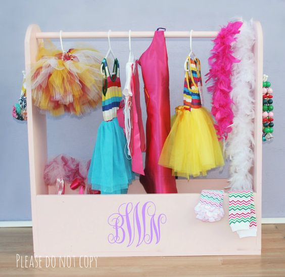 Dress Up Storage Toy Box Monogrammed Girls Dress Up Clothes ...