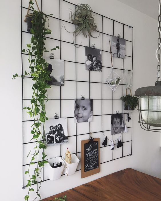 Example of a vision board with plants and vines from home deco on Pinterest