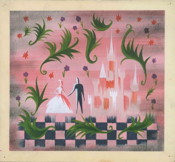 """Concept art for """"Cinderella"""" by Mary Blair. I'd never seen this one before."""