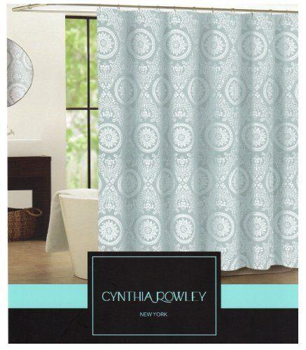Curtains Ideas blue paisley shower curtain : CYNTHIA ROWLEY Turkish Tile Blue Green Aqua Medallion Paisley ...