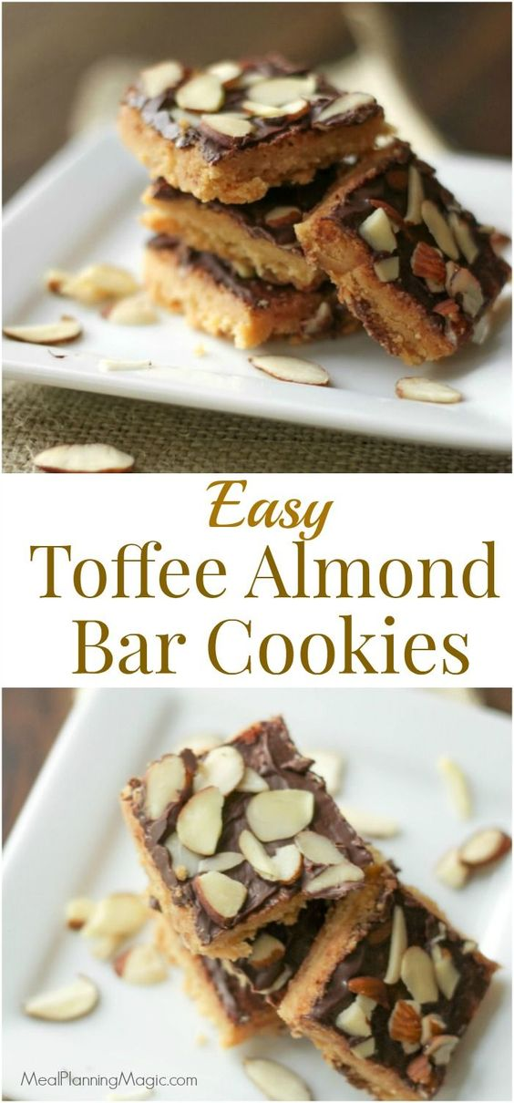 Easy almond cookie bars recipes