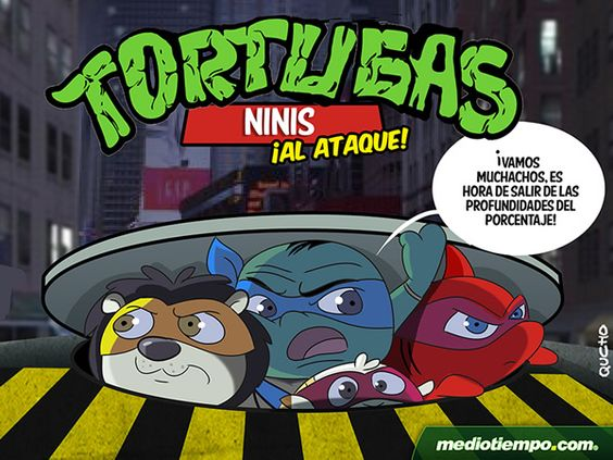 Las Tortugas Ninis - Qucho - mediotiempo.com