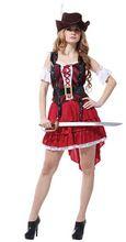 Di alta qualità nobile donne pirati costume cosplay costume sexy delle donne della ragazza halloween costume pirata adulto del vestito operato(China (Mainland))