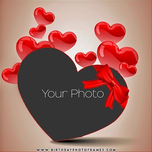 Edit Personalized Photo Frames With Love Hearts Online Image