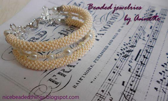 Гарненькі бісерні штучки | Beaded jewelries by Annette: Молочне мереживо