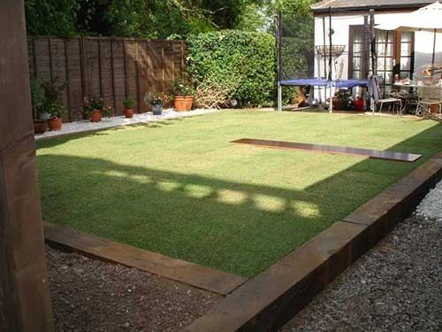 Railway Sleeper Edging Modern Design Modern Modern Design Sleepers In Garden Garden Edging Outdoor Gardens Design