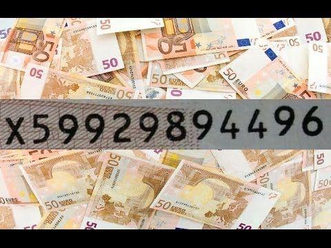 Wertvolle Euroscheine Seltene Seriennummern Markt Fur