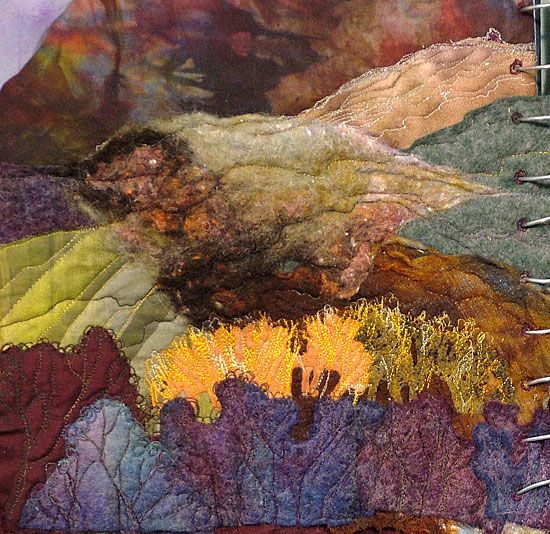 Lovely stitched sketchbook page-atmospheric and with lovely colours: