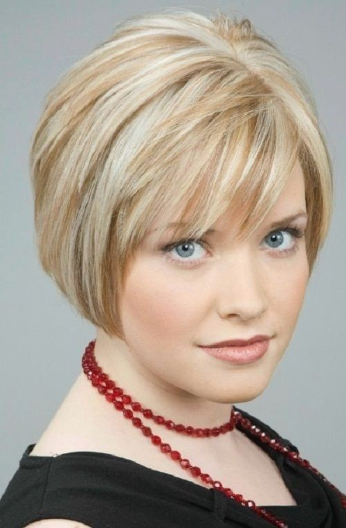 Elegante Kurzhaarfrisuren für feines dünnes Haar und ovales ...