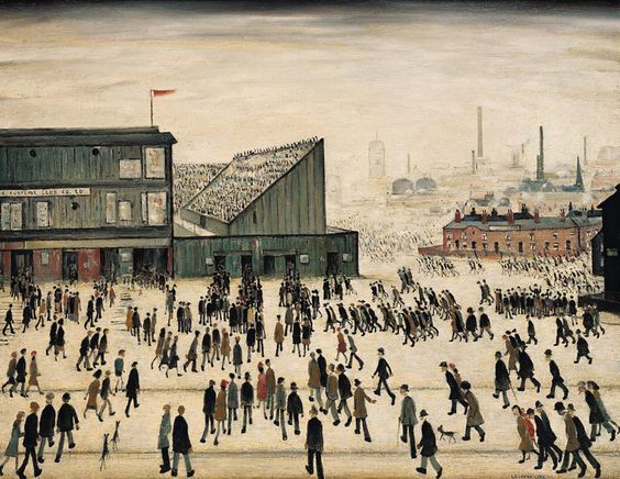 LS Lowry's Going to the Match [1953] depicts Burnden Park, Manchester Road, Bolton, the former home of Bolton Wanderers Football Club.