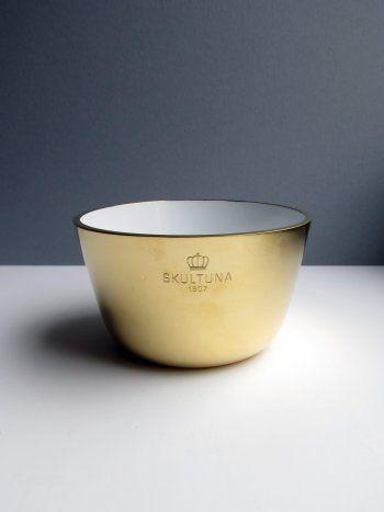 Skultuna brass and enamel bowl