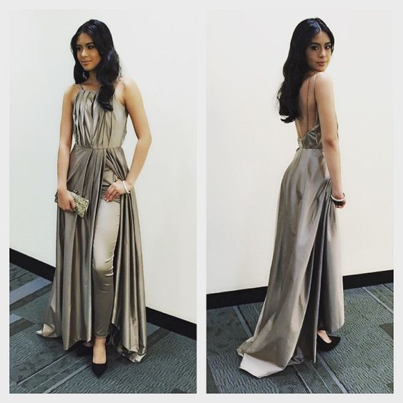@_gabbigarcia for tonight's #PepAwards in a @verguiyab two-piece number. makeup @delosreyesjason | hair @markanthonyrosales | styling associates @nicolealejandro @annnzie #STYLEdiTgroup #GabbiGarcia