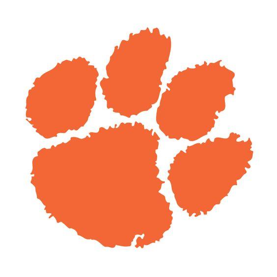 Clemson Tiger Paw Decal