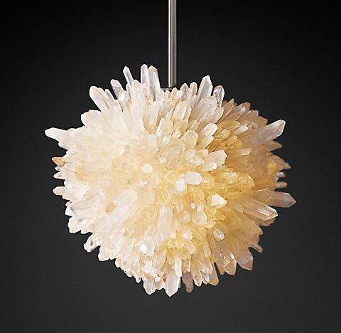 Rh S Geode Quartz Crystal Chandelier