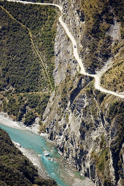 #Wouldyoudare #Cotswoldoutdoor One of the world's most dangerous roads: Skippers Road in New Zealand