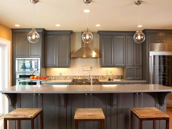 Steely Gray Kitchen