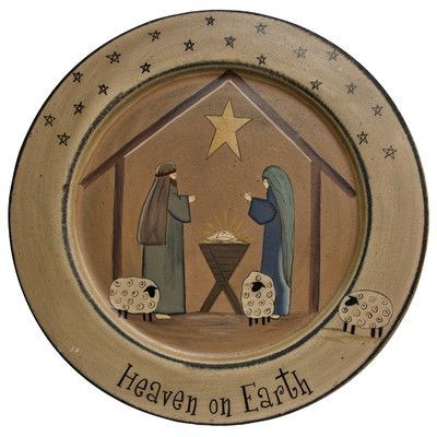 TheHearthsideCollection Heaven on Earth Nativity Plate