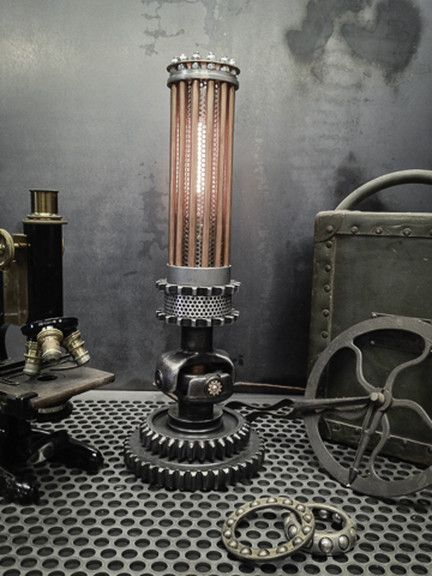 Ring In The Steampunk Decor To Pimp Up Your Home: Steampunk Lighting, Steampunk Furniture, Industrial