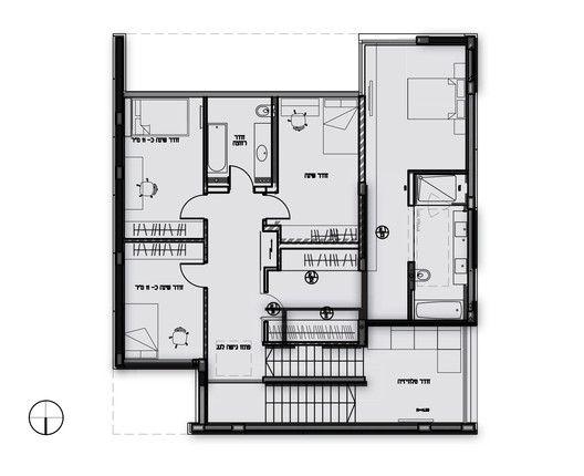 Galeria De Casa K Auerbach Halevy Architects 13 In 2020 Architectural Floor Plans House Layout Design Architect