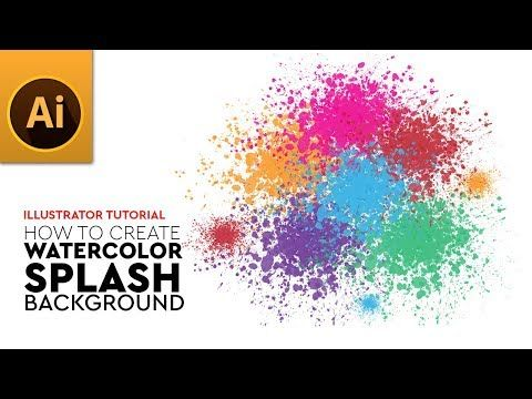 How To Create Elegant Splash Watercolor Vector Background In Adobe