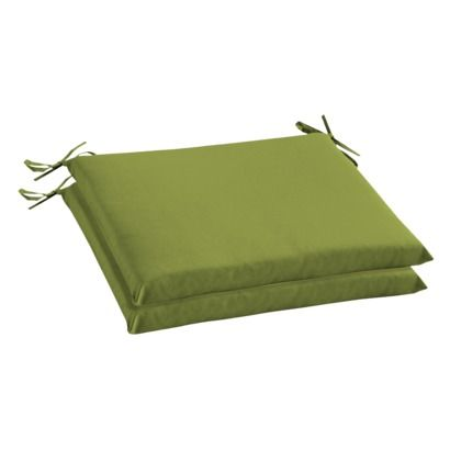 Room Essentials™ 2-Piece Outdoor Seat Pad/Dining Cushion Set - Green.Opens in a new window