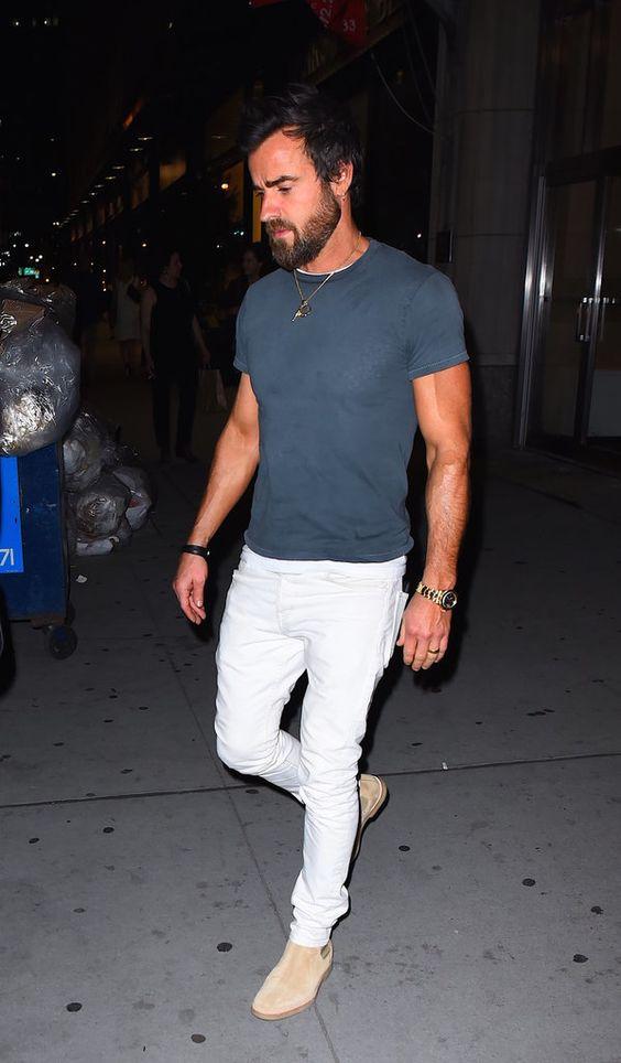 Justin Theroux vous donne encore une autre raison d'être jaloux de Jennifer Aniston Bien Affichant ses Biceps à New York