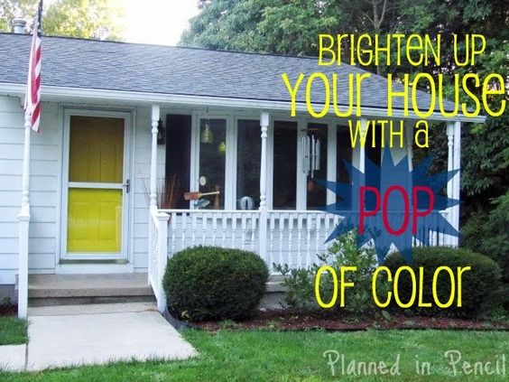 Planned In Pencil: Curb Appeal - Paint Your Front Door