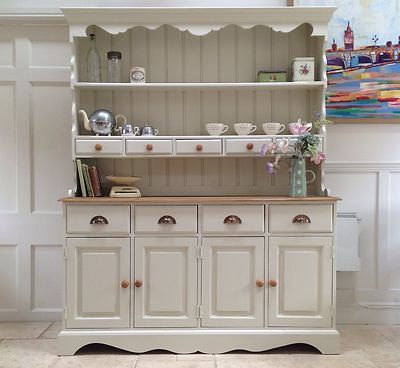 Hand Painted Dresser Cream Solid Pine 5ft Welsh Dresser