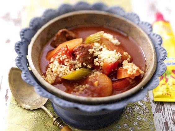 Marokkanische Gemüsesuppe mit Couscous
