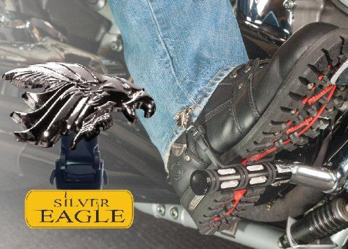 "Biker Boot Straps Straps Boot Silv Eagle 6"". Prevent pants from flapping in the wind, riding up, or insects from entering pant leg."
