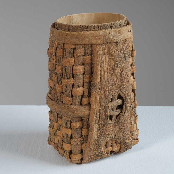 Bark Basket by Dorothy Gill Barnes