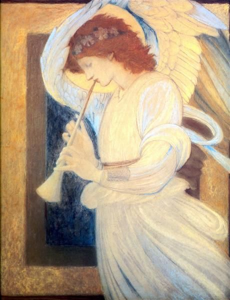 Burne Jones - An Angel Playing a Flageolet
