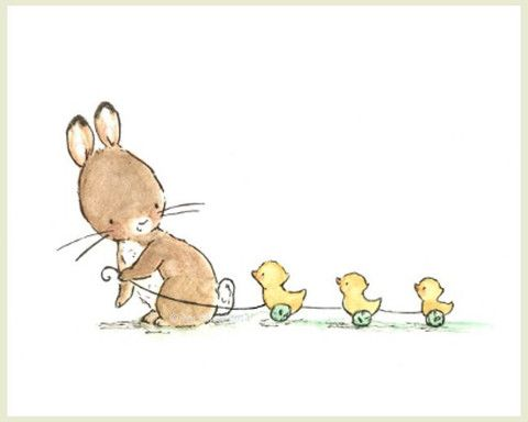 Bunny and Ducklings: