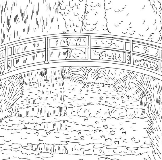 using ms paint gimp colouring pages from computer various artists pinterest - Monet Coloring Pages Water Lilies