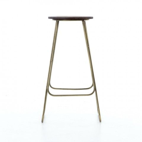 Marlow Counter Stool Backless Counter Stool With Aged Driftwood Nickel Nail Heads Linen Fabri Counter Stools Counter Stools Backless Leather Counter Stools