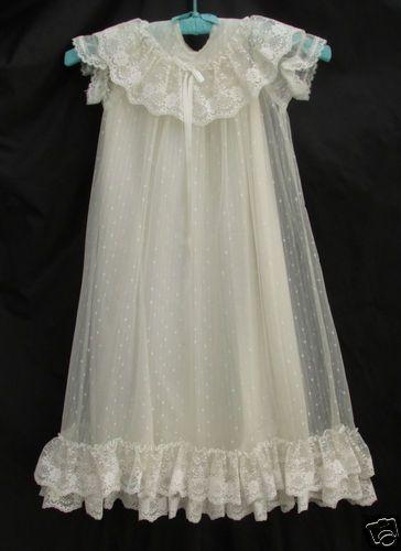 Vintage Baby Christening Baptismal Gown Dress ...