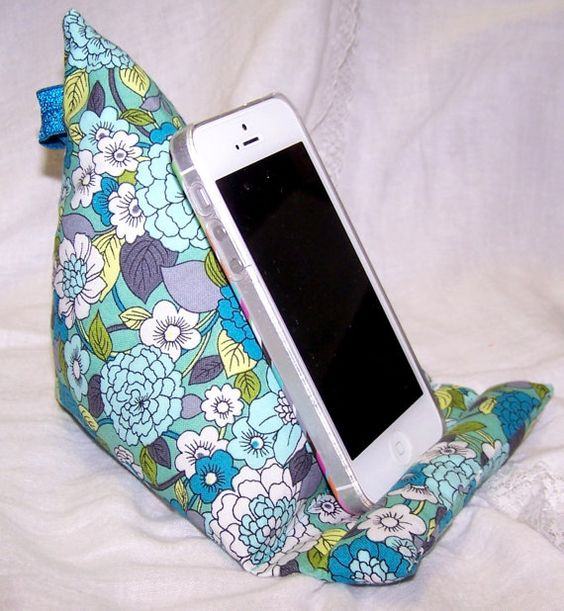 Cute Tablet Pillow : Phone Stand, Cell Phone stand, ipad stand, dock, Fabric Stand, cute phone stand, android ...