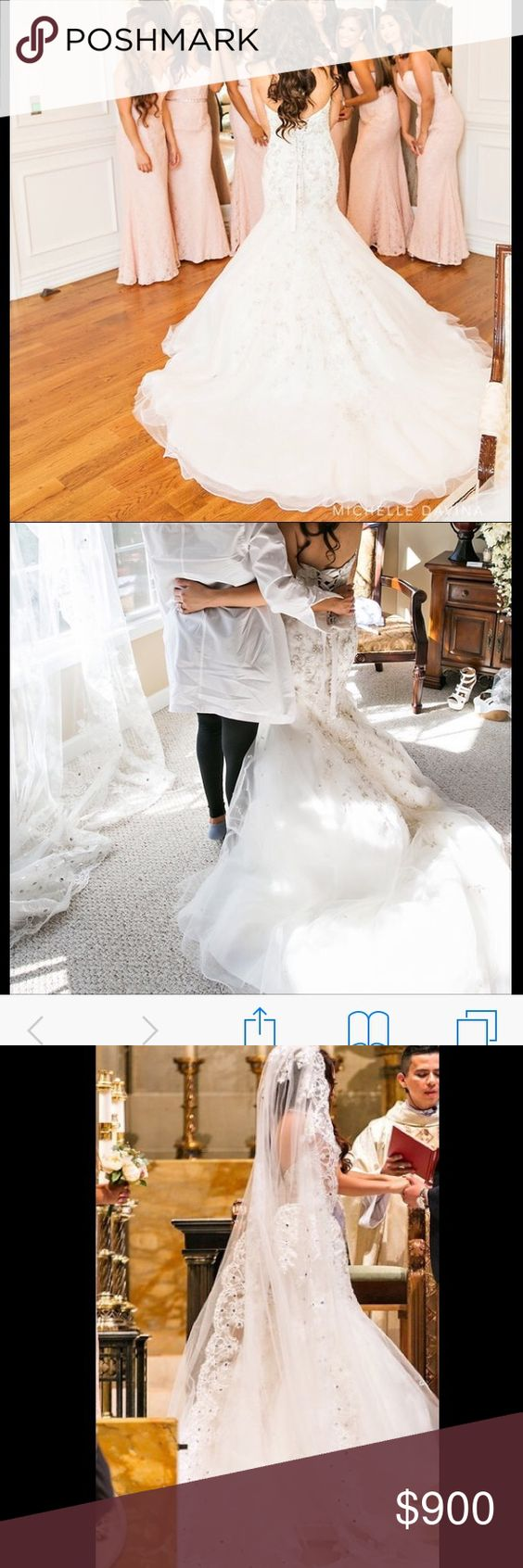 Long veil wedding dresses  Mori Lee wedding dress and beautiful long veil Wedding dress is in