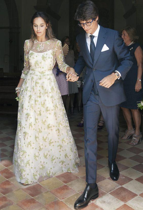 Espectacular vestido bordado de novia de Teresa Helbig