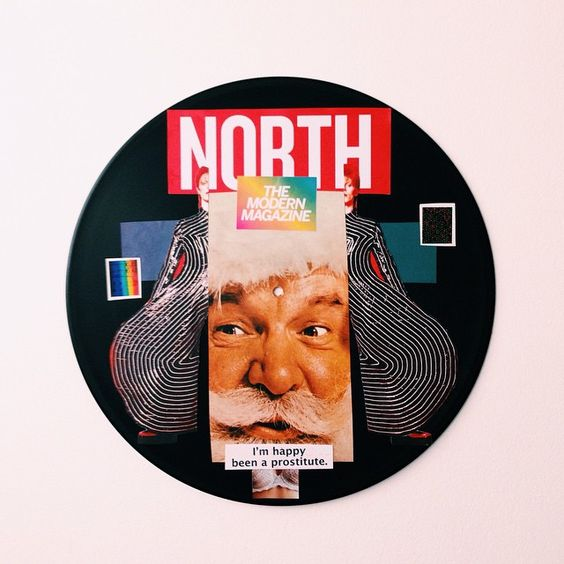 Feliz Natal | colagem sobre vinil por pedroluiss #art #collage #vinyl #pedroluiss